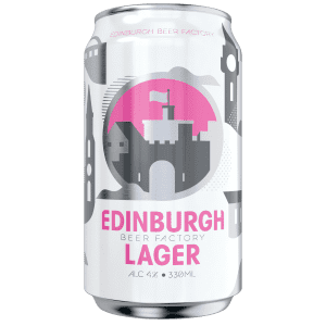 Edinburgh Lager can